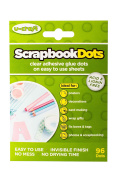 Scrapbook Dots - 6 sheets of 16 Glue dots - Permanent, Thin, Double-sided, Sticky, Adhesive Dots for Creative Hobbies, Arts & Crafts, Scrapbooking & Other Projects