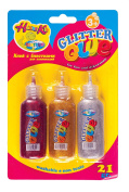 Glitter Glue fro Decoration 21gm, 3 bottle Blister pack (84155) by Jms Photos