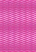 5 x A4 Pink Back Polka Dot Card Stock, Dot Size:- Medium - PD85