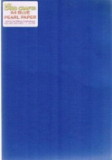 A4 Pearlised Blue Paper - 120gsm x 5 Sheets - UKCC0280