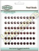 5mm Chocolate Heaven Self Adhesive Pearls x 60