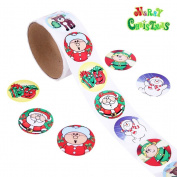 LEORX Stickers Decals for Holiday - Roll of Cartoon Christmas Style