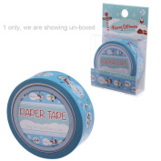 10 Metre Paper Self Adhesive Gift Tape Christmas Blue Snowman Ever Feel Like That Final Funky