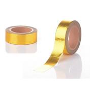 creafirm – 10 m Roll Masking Tape Metallic Gold 15 mm