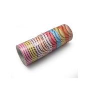 creafirm – 10 Rolls of Masking Tape Oblique Stripe Black)