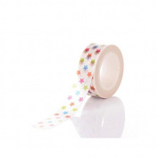 creafirm – 10 m Roll Masking Tape colourful stars)