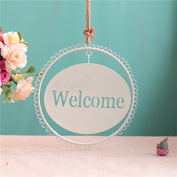 JY$ZB American Home Furnishings Fashion Number Plate Gift Crafts 2PCS , welcome