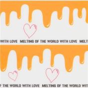 cute white orange paint heart deco tape sticky tape
