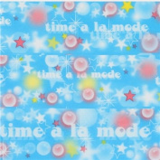 cute blue colourful star bubble circle deco tape sticky tape