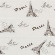 white with Eiffel Tower bird Washi Masking Tape deco tape
