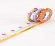 MT Washi Masking Tape, Slim, Twist Cord B, 6mm x 10m x 3 (MTSLIM11) by MT