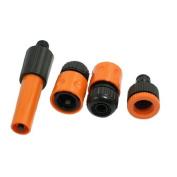 Auto Car Wash Hose Jet Spray Nozzle Set Tap Connector Black Orange