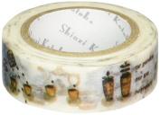 SEAL-DO Shinzi Katoh Washi Masking Tape, Rose Garden