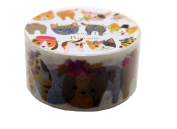 Aimez Le Style Primaute Collection Special New Design Cats and Dogs Multicolor Washi Masking Deco Tape Semi Wide.