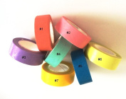 Angel Malone 1 x Large 10m Roll (#1Orange) Plain Solid Colour Washi Tape Deco Masking Tape. Great for all your Crafts