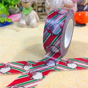 Angel Malone 1 x Large 10M Roll (#15-Santa Claus) Christmas Japanese Paper Washi Tape Deco Masking Tape. Great for all your Crafts