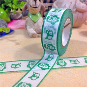 Angel Malone 1 x Large 10M Roll (#13-Turquoise) Japanese Paper Washi Tape Deco Masking Tape. Great for all your Crafts