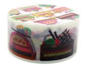 Aimez Le Style Primaute Collection Colourful Cutaway Cakes Washi Masking Deco Tape Semi-wide.
