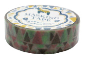 Amifa Japan Collection Folk Nordic Washi Masking Deco Tape Standard Earthy Combination.