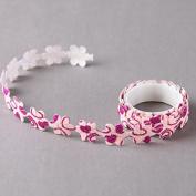 Glitter Pink Flowers Cloth Craft Decorative Tape by SHOKK ™