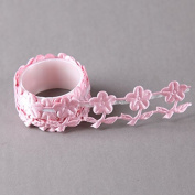 Fabric Pink Flowers Decoratove Craft Cotton Tape by SHOKK ™