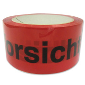 "Polypropylene Tape ""Vorsicht Glas – No Noise – 50 x 66 High Quality Product"