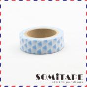 Blue Triangles Washi Tape, Craft Decorative Tape