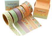 6 Rolls Scrapbook Tapes Japanese Style Washi Tapes