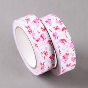 Red & Pink Flowers Fabric Craft Tape