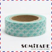 Green Cross Washi Tape, Craft Decorative Tape