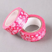 Nature And Flowers Red Washi Tape, Craft Decorative Tape by SHOKK™