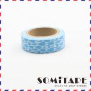 Blue Waterdrops Washi Tape, Craft Decorative Tape