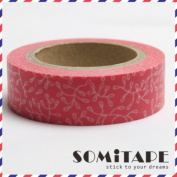 Red Pattern 2 Washi Tape, Craft Decorative Tape