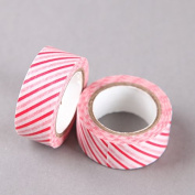 Thin Red Stripes Washi Tape, Craft Decorative Tape by SHOKK™
