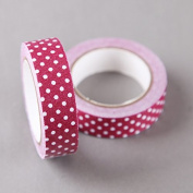 Bergundy with White Dots Cloth/Fabric Tape 15mm x 4m by SHOKK™