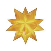 RAYHER - Bascetta-Stern transparent, 15x15 cm, 115g, Beutel 1 Stück, gelb