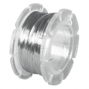 RAYHER - Schmuckdraht, 0,5 mm ø, Rolle 8 m, silber