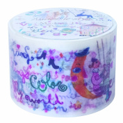 Colourful letters Aimez le style Japanese Washi Tape 38 mm x 10 m extra wide tape