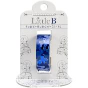 Little B 100426 Decorative Foil Paper Tape, Blue Camouflage