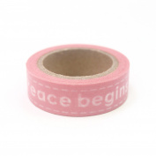 Paper Washi Tape Peace begins with a Smile Design 10m x 1.5 cm