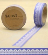 Washi Tape White Lace on Purple Design 10m x 1.5 cm