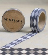 Washi Tape Black White Grey Diamonds10m x 1.5 cm