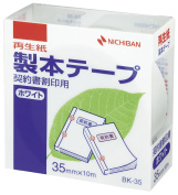 Nichiban tape binding contract tally impression for 35mm x 10m white BK-3535