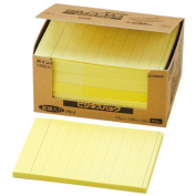 Business Pack 75mm x 100mm yellow PB-4 NICHIBAN point memo ruled