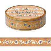Antique Lilies Beige Aimez le style Japanese Washi Tape 15mm x 12 m