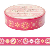 Red flower pattern Aimez le style Japanese Washi Tape 15mm x 12 m