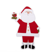 Neviti Let It Snow Father Christmas Glass Decoration, Multi-Colour, Pack of 10