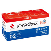 NWBB-10 12 roll into NICHIBAN nice tack bun box recycled paper double-sided tape nice tack 10mm x 20M large volume