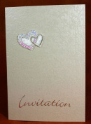 3 x Double Heart with Sequins Quality Self Adhesive Motifs