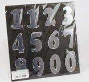 22X22CM SELF ADHESIVE REFLECTIVE NUMBERS FG1572